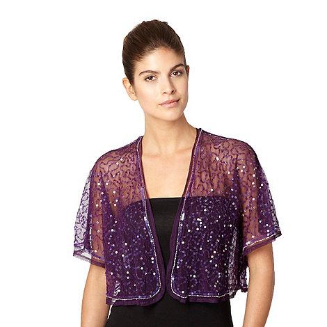 Debut - Purple gathered sequin bolero