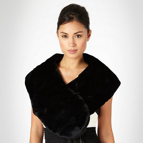Debut - Black faux fur stole