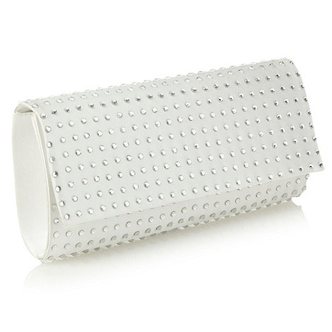 Debut - Silver crystal studded clutch bag