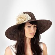Light Brown Flower Summer Hat