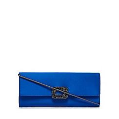 J by Jasper Conran - Blue square crystal clutch purse