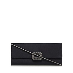 J by Jasper Conran - Black square crystal clutch purse with silk