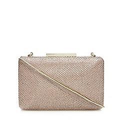 J by Jasper Conran - Gold glitter embellished box clutch bag