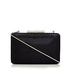 J by Jasper Conran - Black glitter embellished box clutch bag