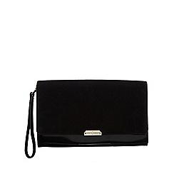 J by Jasper Conran - Black suede clutch bag