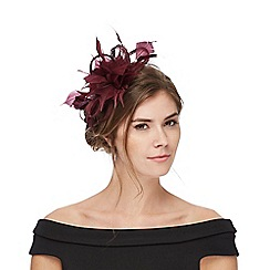J by Jasper Conran - Dark red small feather hair piece
