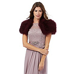 J by Jasper Conran - Dark pink feathered marabou shrug