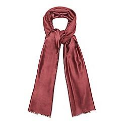 J by Jasper Conran - Dark red pashmina scarf with silk