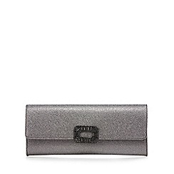 J by Jasper Conran - Silver stone embellished clutch bag