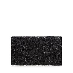 No. 1 Jenny Packham - Black beaded envelope clutch bag