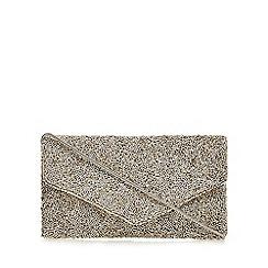 No. 1 Jenny Packham - Gold beaded envelope clutch bag