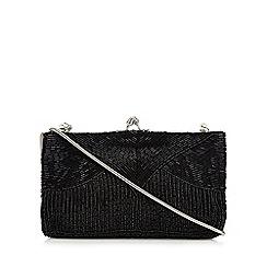 No. 1 Jenny Packham - Black bugle beaded clutch bag