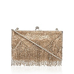 No. 1 Jenny Packham - Gold beaded clutch bag