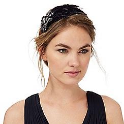 No. 1 Jenny Packham - Navy jewel feather headband