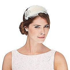 No. 1 Jenny Packham - White jewel feather headband