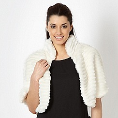 Star by Julien MacDonald - Cream textured faux fur cape