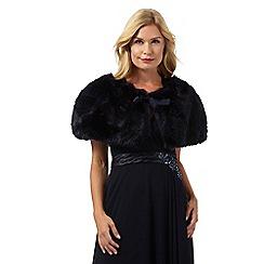 No. 1 Jenny Packham - Navy faux fur cape