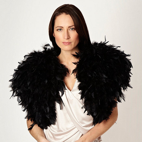 No. 1 Jenny Packham - Black cut feather shrug
