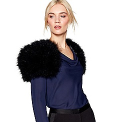 J by Jasper Conran - Black feathered shrug