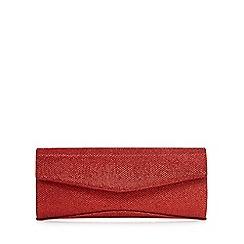 Debut - Red metallic detail clutch