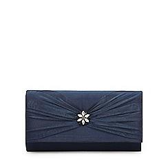 Debut - Navy 'Organza' clutch bag