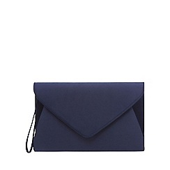 Debut - Navy sateen envelope clutch bag