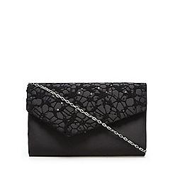 Debut - Black sequin lace clutch bag