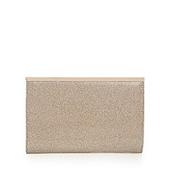 Debut - Gold glitter zip clutch