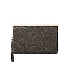 Debut - Gold glitter frame clutch bag