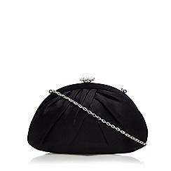 Debut - Black diamante trim clutch bag