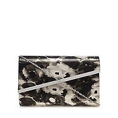 Debut - Black floral print clutch bag