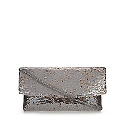 Debut - Gold sequin flap over clutch bag