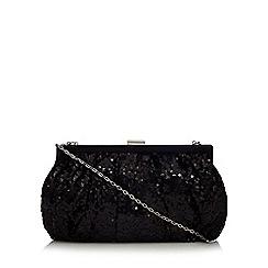 Debut - Black sequin embellished clutch bag