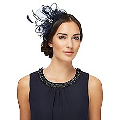 Debut - Navy organza flower fascinator