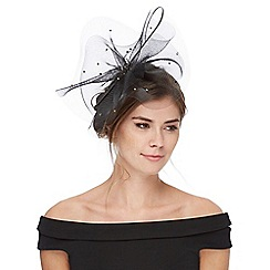 Debut - Black diamante embellished mesh fascinator