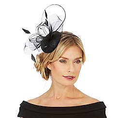 Debut - Black mesh bow fascinator