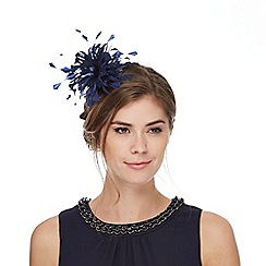 Debut - Navy feather hair piece