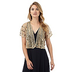 Debut - Gold sequin embellished shrug