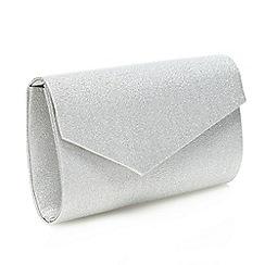 Debut - Silver glitter asymmetric clutch bag
