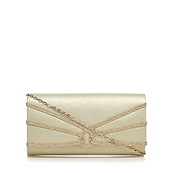 Debut - Gold swirl flap over clutch bag