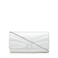 Debut - Silver swirl flap over clutch bag