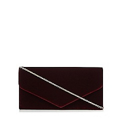 Debut - Red velvet envelope clutch