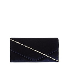 Debut - Navy velvet envelope clutch
