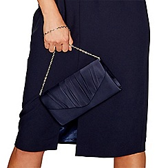 Debut - Navy pleated envelope clutch purse