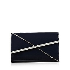 Debut - Navy asymmetric clutch bag