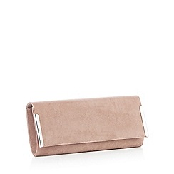 Debut - Taupe bar detail clutch bag