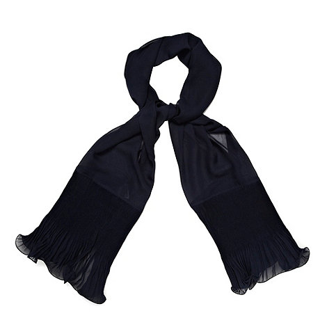 Debut - Navy fluted chiffon stole