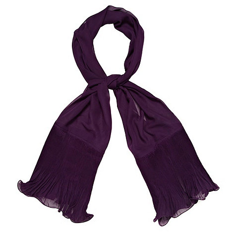 Debut - Purple fluted chiffon stole