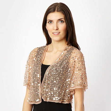 Debut - Natural sequin bolero