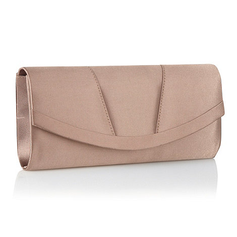 Debut - Gold curved clutch bag